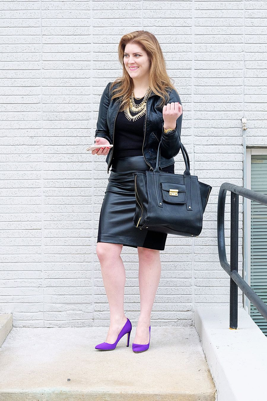 How to Wear Leather for Work - A Study in Chic