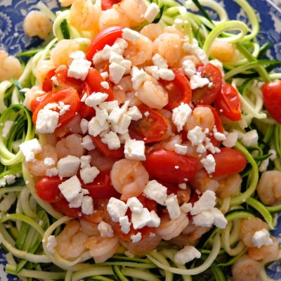 Shrimp and Tomato Zoodles