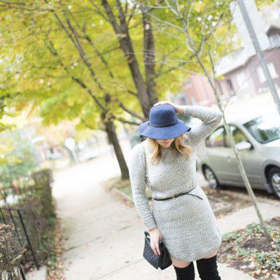 Sweater Dress & OTK Boots