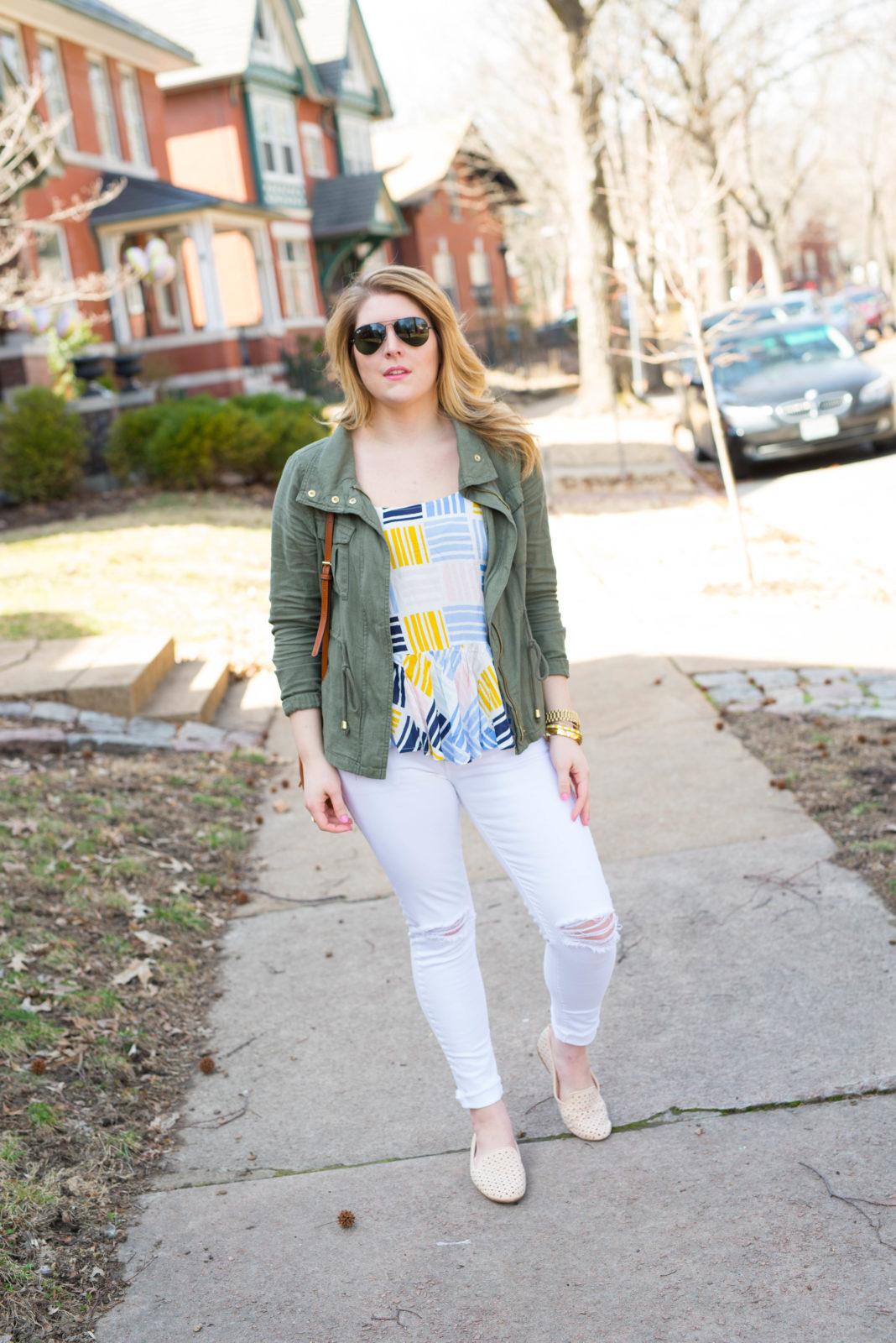 Graphic Cami & White Jeans-1