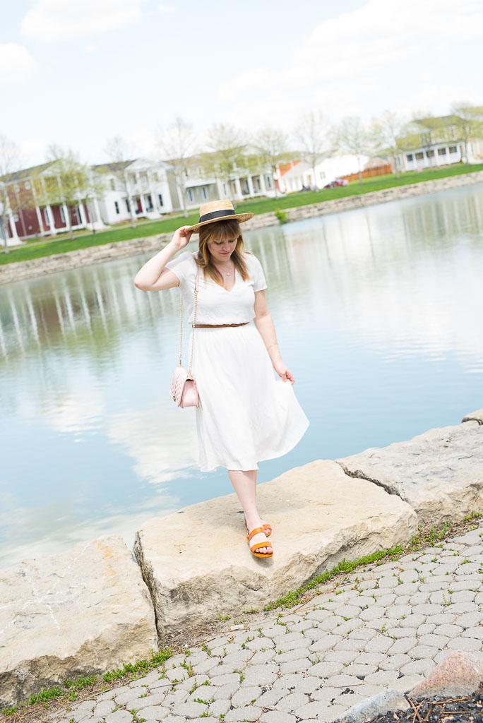 White Midi Dress-35