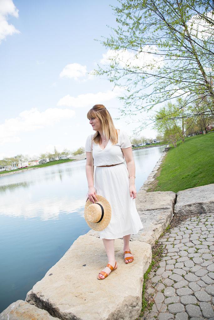 White Midi Dress-4