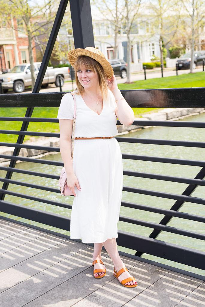 White Midi Dress-48