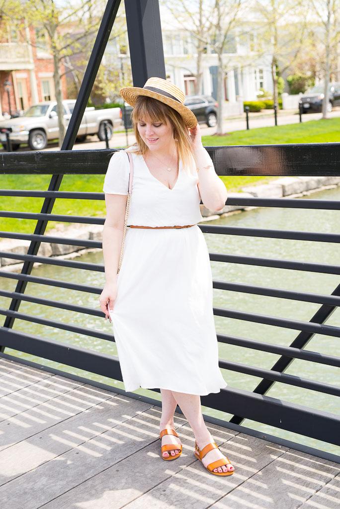 White Midi Dress-49