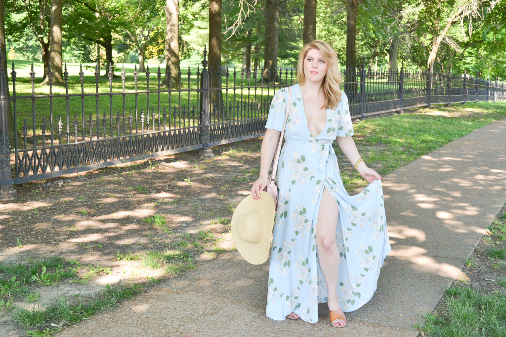 Blue Floral Maxi Dress-8