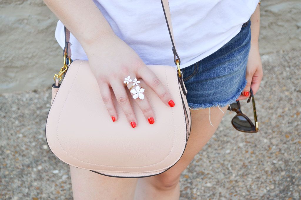 White Tee & Denim Shorts-11