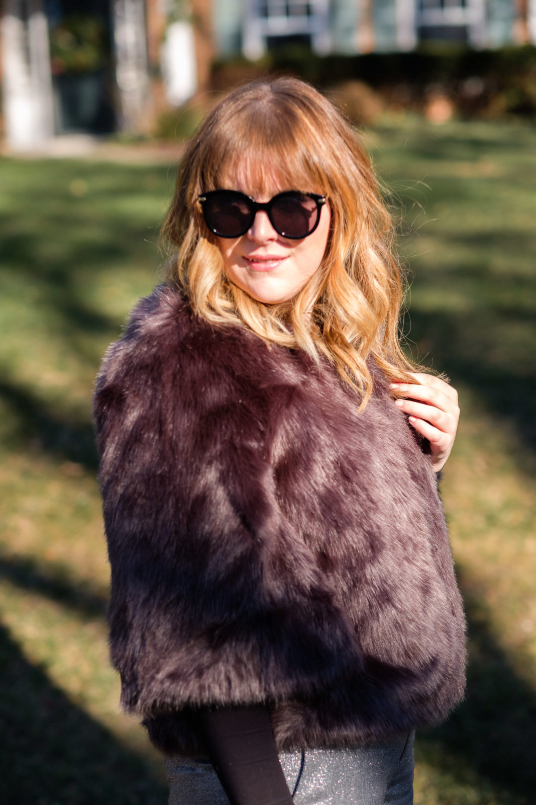 faux fur to the office